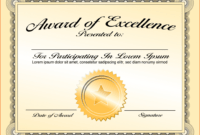 Life Saving Award Certificate Template – Zohre for Professional Award Certificate Template