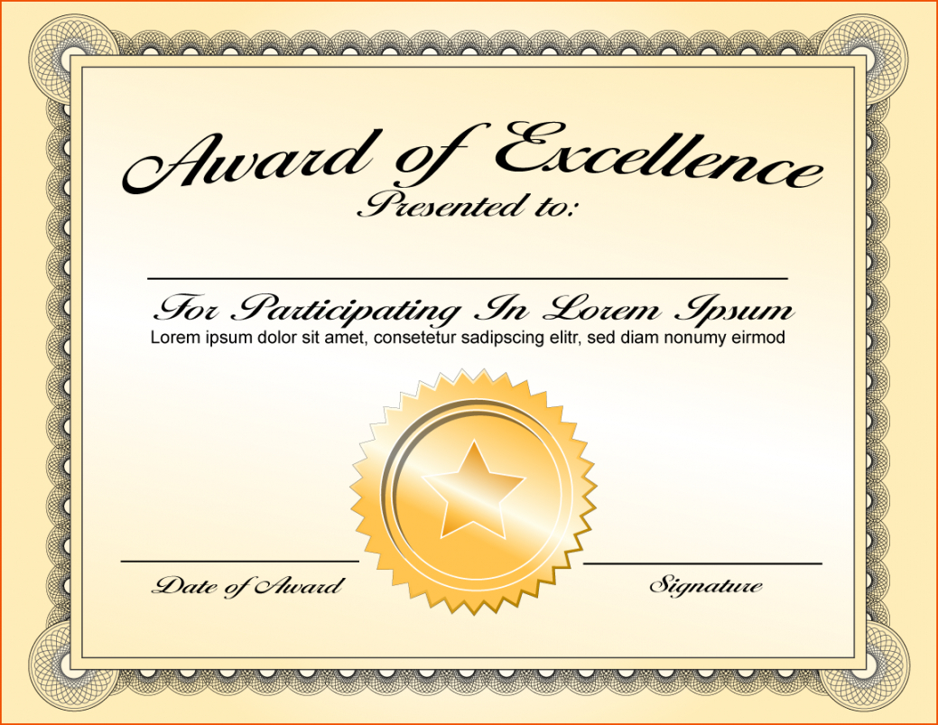 Life Saving Award Certificate Template - Zohre Throughout Sample Award Certificates Templates