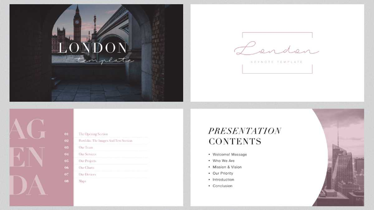 London Minimal Free Powerpoint Template With Fancy Powerpoint Templates