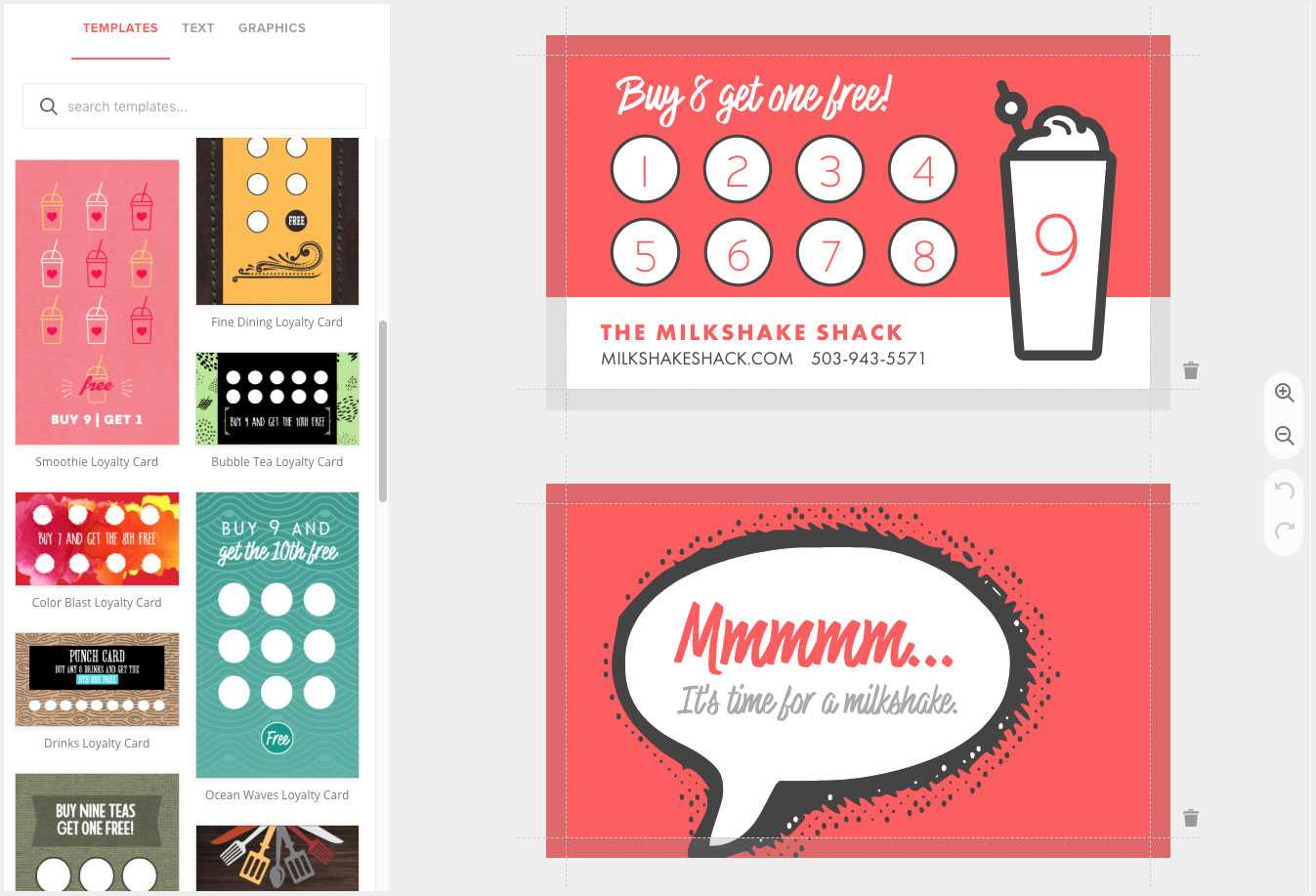 Loyalty Card Maker, Custom Punch Cards – Musthavemenus With Customer Loyalty Card Template Free