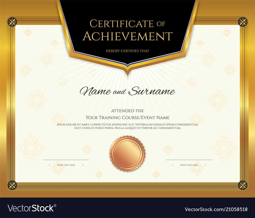 Luxury Certificate Template With Elegant Border For High Resolution Certificate Template