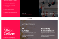 Magenta College Tri Fold Brochure Template in Tri Fold School Brochure Template