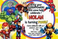 Make Your Own Avengers Birthday Invitations Templates for Avengers Birthday Card Template
