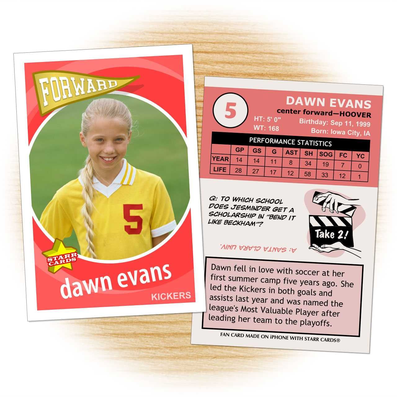 Make Your Own Soccer Card Pertaining To Soccer Trading Card Template