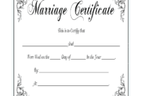 Marriage Certificate - Fill Online, Printable, Fillable within Blank Marriage Certificate Template