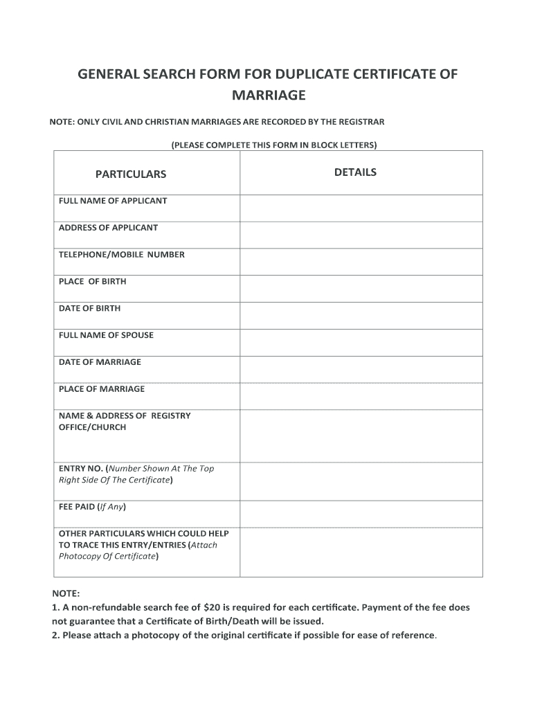 Marriage Certificate Kenya – Fill Online, Printable With Regard To Certificate Of Disposal Template