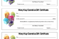Mary Kay Gift Certificate Template Free Download in Mary Kay Gift Certificate Template