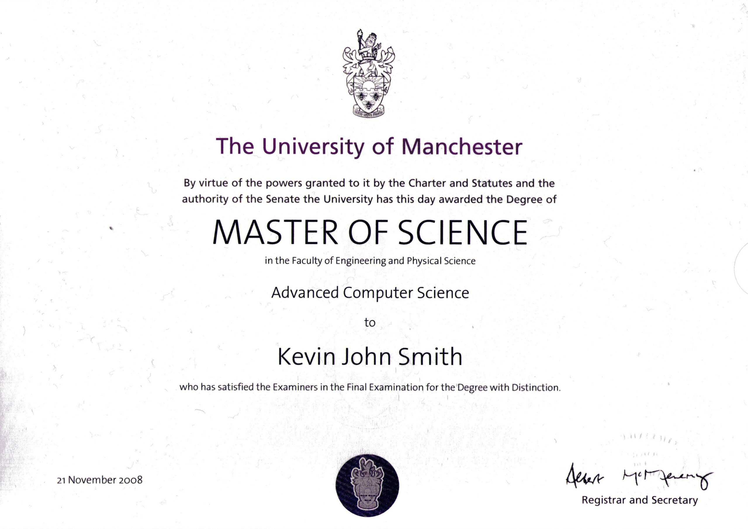 Masters Degree Certificate Template Awesome Templates Free With Masters Degree Certificate Template