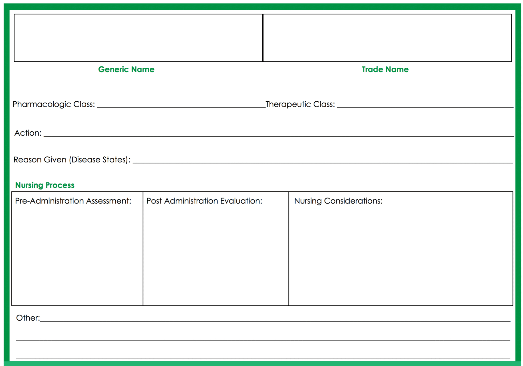 Med Card Template - Zohre.horizonconsulting.co In Med Cards Template