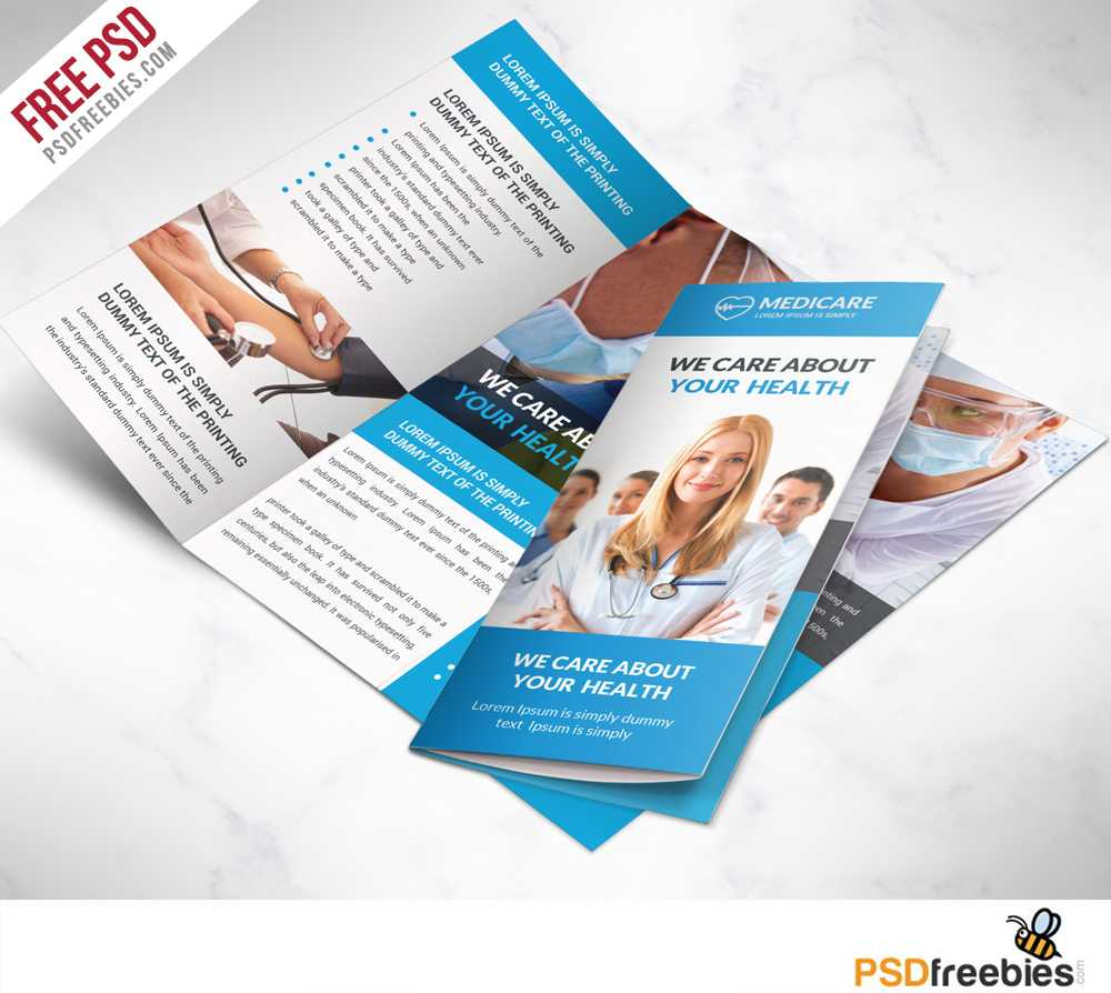 Medical Care And Hospital Trifold Brochure Template Free Psd In Medical Office Brochure Templates