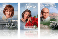 Memorial Program Template within Memorial Cards For Funeral Template Free