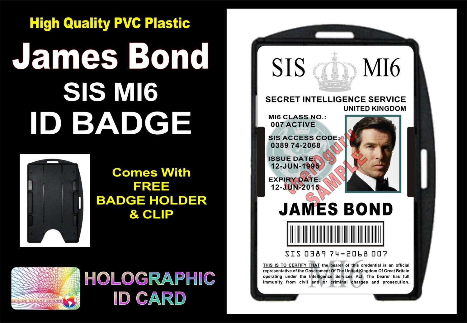 Mi6 Id Card Template ] - James Bond 007 Mi5 Id Badge Card Gt Throughout Mi6 Id Card Template