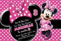 Minnie Mouse Birthday Invitations : Minnie Mouse Birthday in Minnie Mouse Card Templates