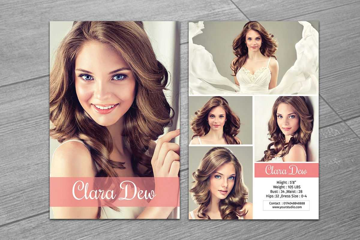 Modeling Comp Card Template, Ms Word & Photoshop Template Within Free Zed Card Template