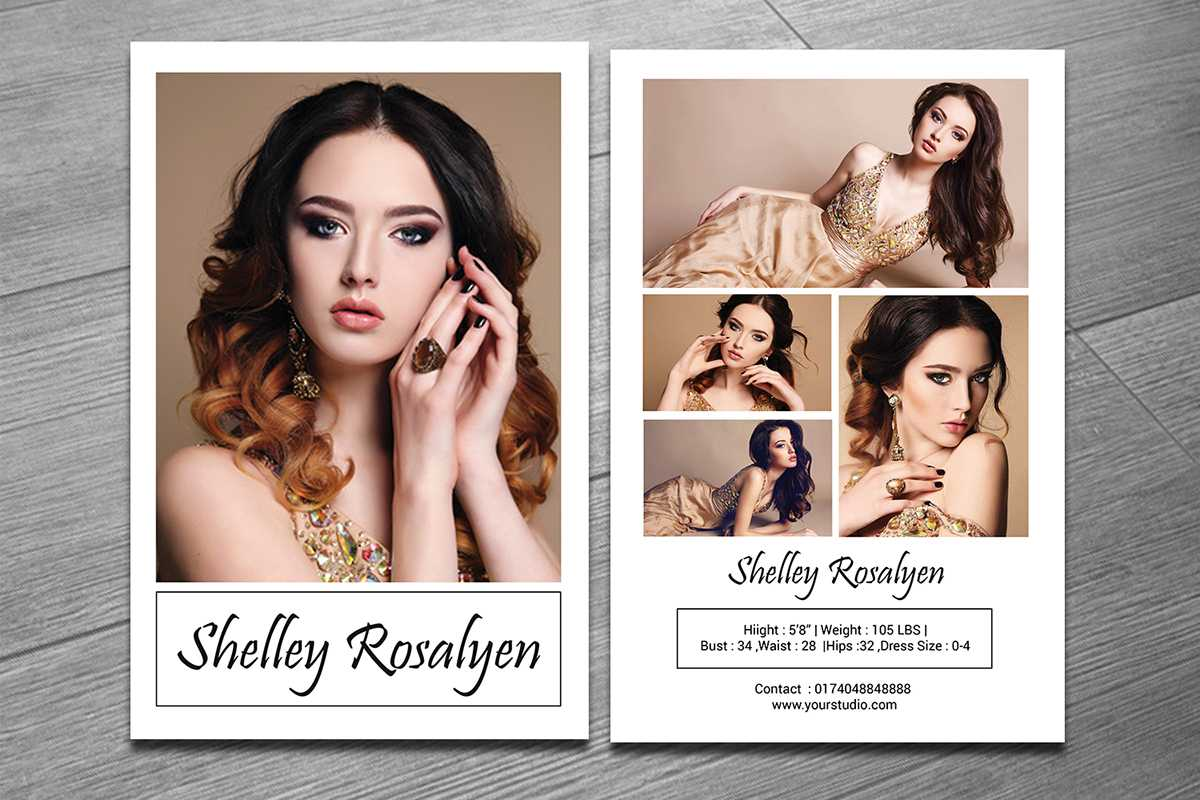 Modeling Comp Card Template On Behance Throughout Zed Card Template