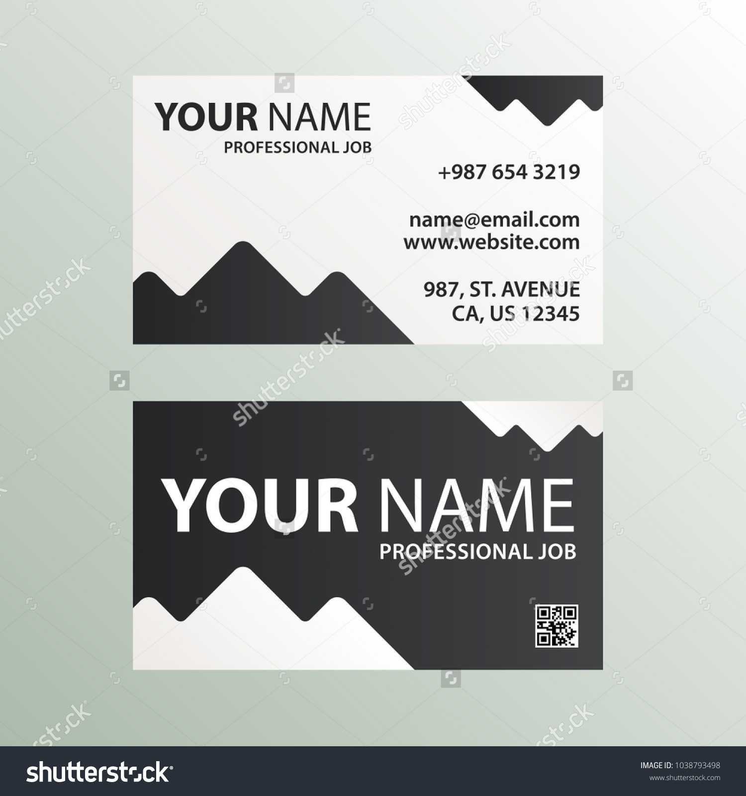 Modern Abstract Business Card Design Template Stock Vector In Qr Code Business Card Template