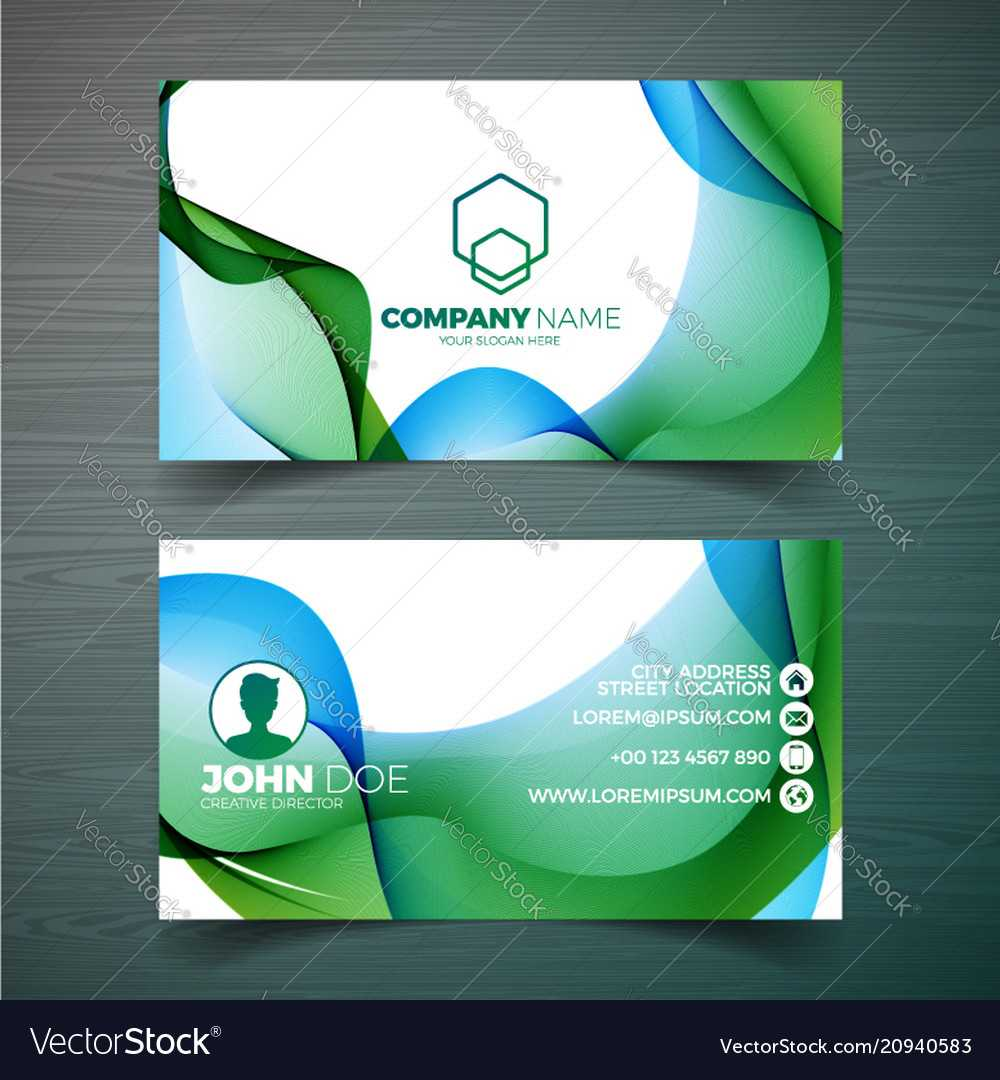 Modern Business Card Design Template With Throughout Modern Business Card Design Templates