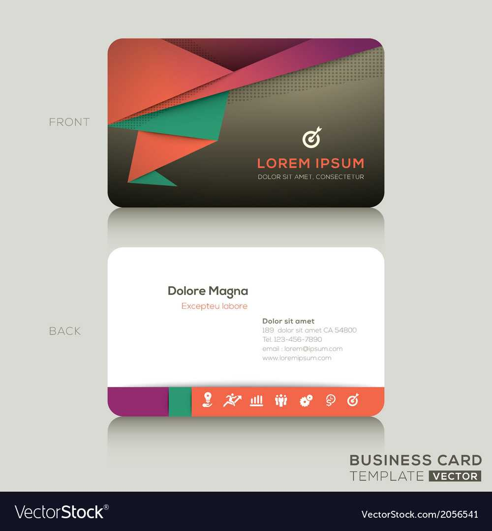 Modern Business Cards Design Template With Regard To Modern Business Card Design Templates
