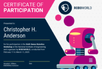 Modern Certificate Of Participation Template throughout Certificate Of Participation In Workshop Template