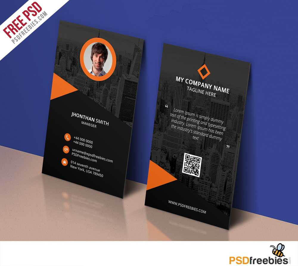 Modern Corporate Business Card Template Free Psd Intended For Name Card Design Template Psd