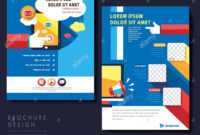 Modern Flat Design Flyer Template For Social Media Concept With Social Media Brochure Template