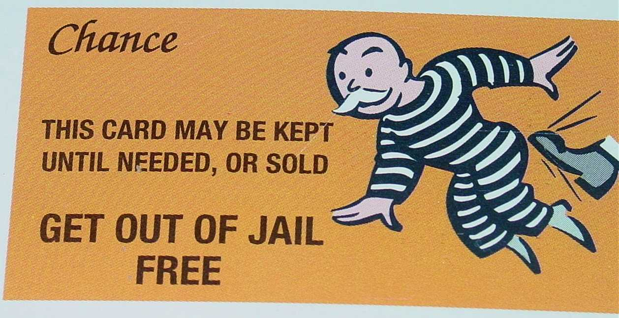 Monopoly Get Out Of Jail Free Card Template ] - Monopoly Get In Get Out Of Jail Free Card Template
