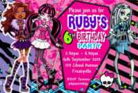 Monster High Birthday Card Template ] – Monster High Niece pertaining to Monster High Birthday Card Template