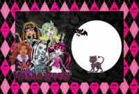 Monster High Birthday Invitation Templates Free – Best Happy inside Monster High Birthday Card Template