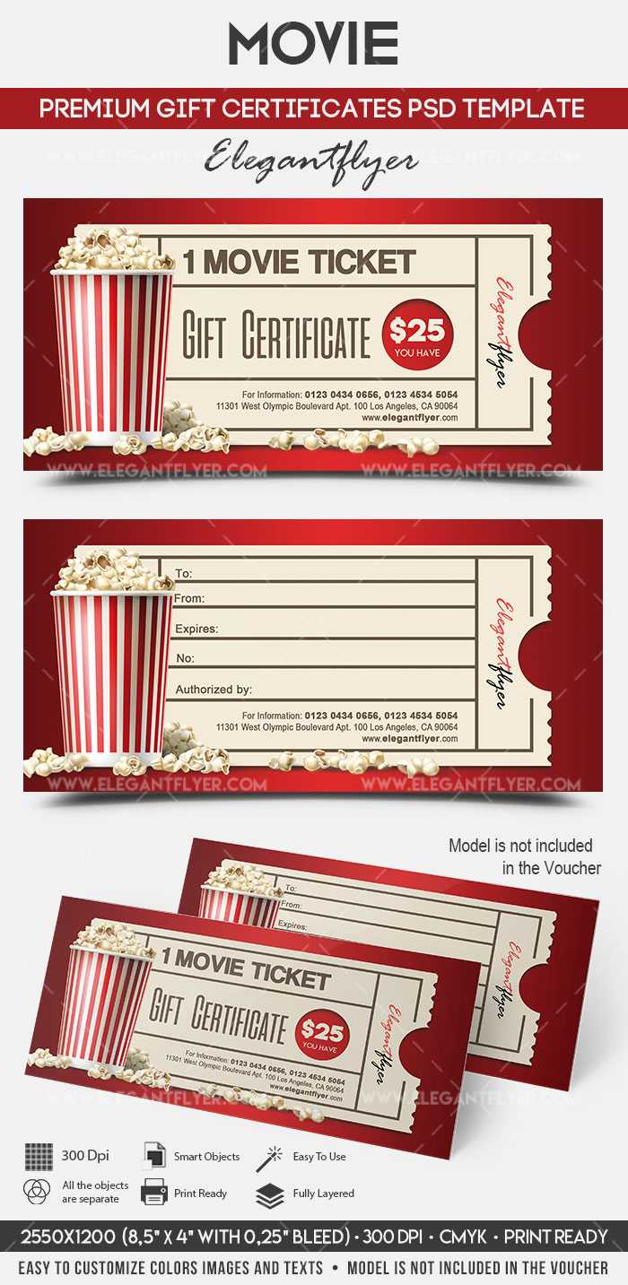 Movie Gift Certificate Psd Printable For Movie Gift Certificate Template
