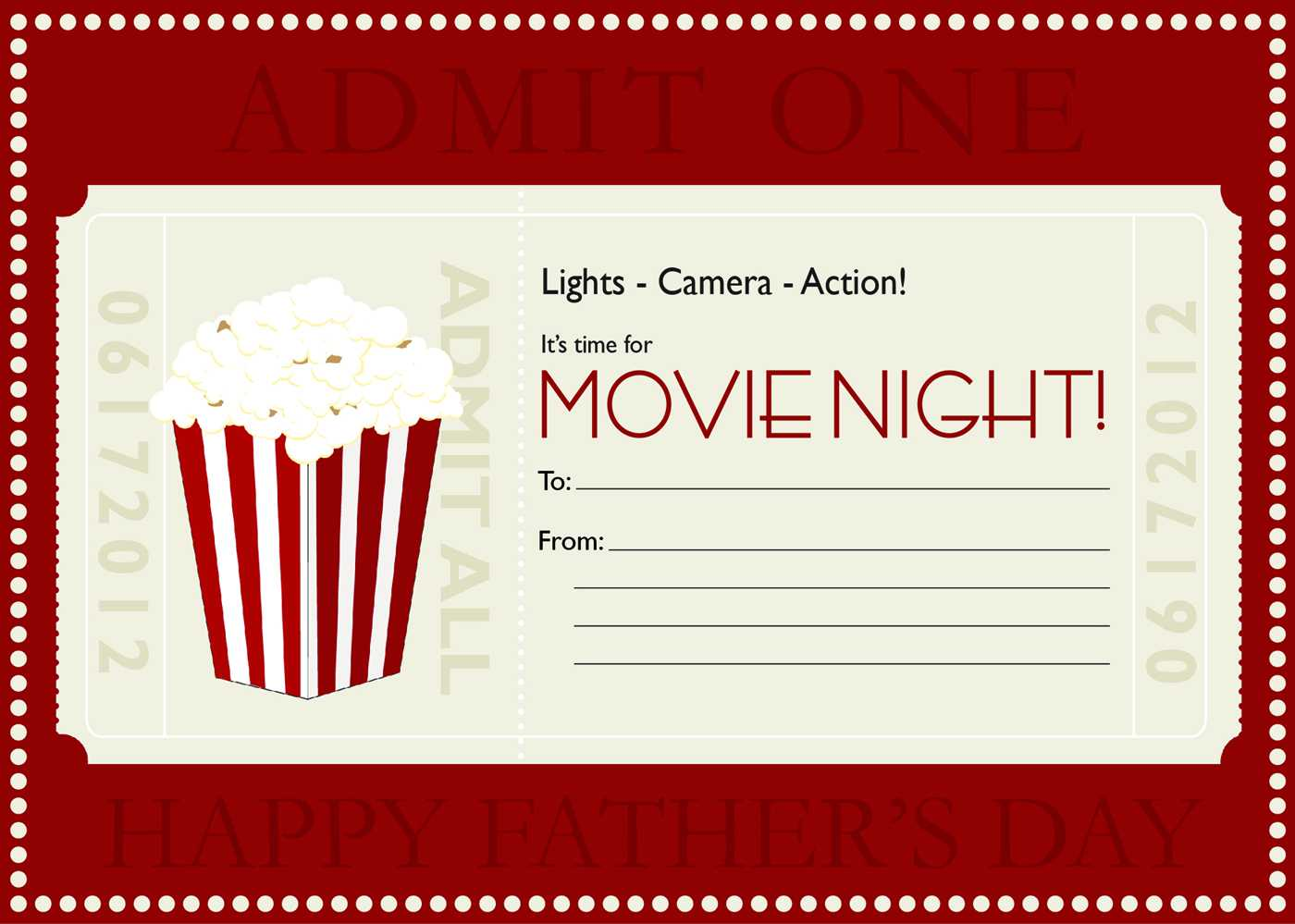 Movie Gift Certificate Templates | Gift Certificate Templates Pertaining To Movie Gift Certificate Template