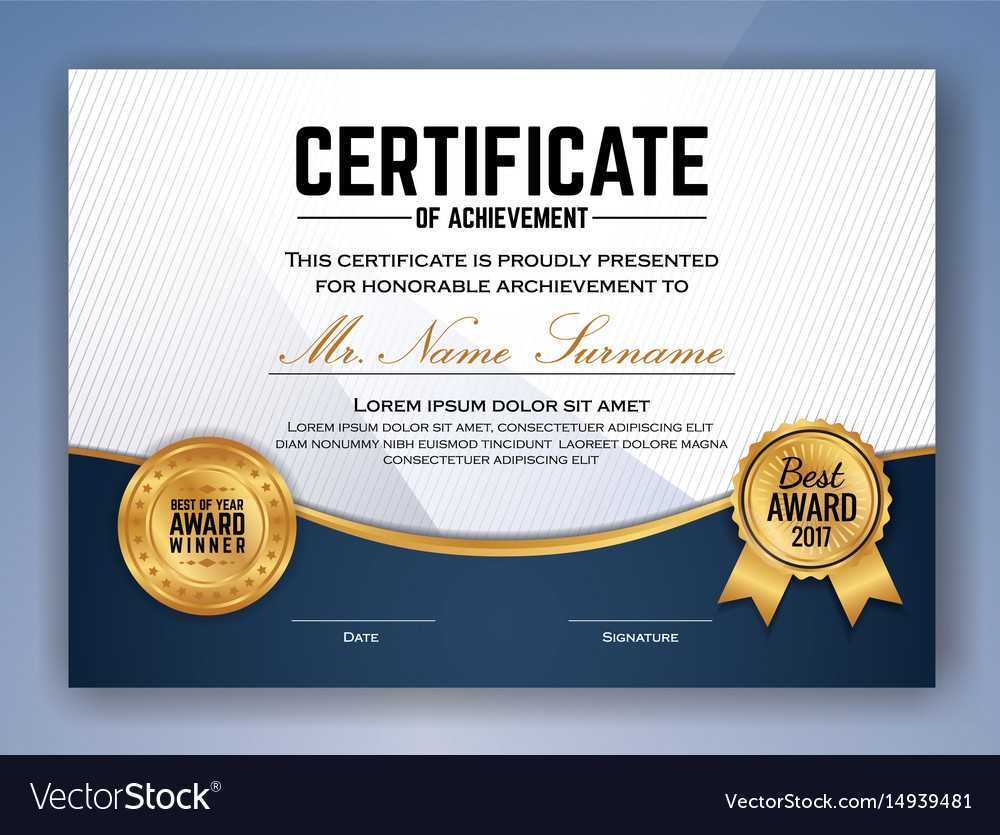 Multipurpose Professional Certificate Template With Regard To Professional Award Certificate Template