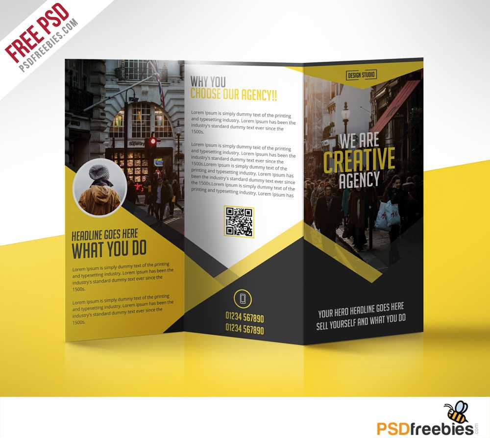 Multipurpose Trifold Business Brochure Free Psd Template For Brochure Psd Template 3 Fold