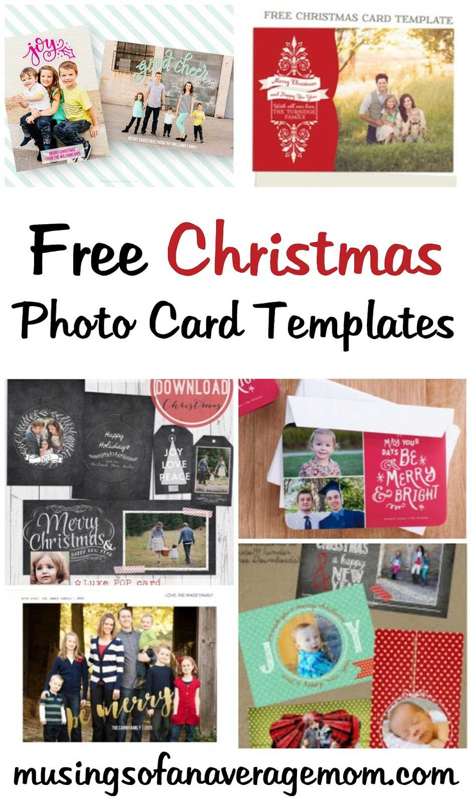 Musings Of An Average Mom: Free Photo Christmas Card Templates Within Free Christmas Card Templates For Photographers