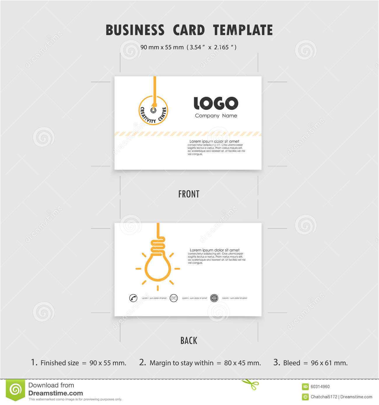 Name Card Size Template ] – Vector Abstract Creative Intended For Place Card Size Template