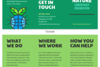 Nature Tri Fold Brochure Template – Venngage intended for Volunteer Brochure Template