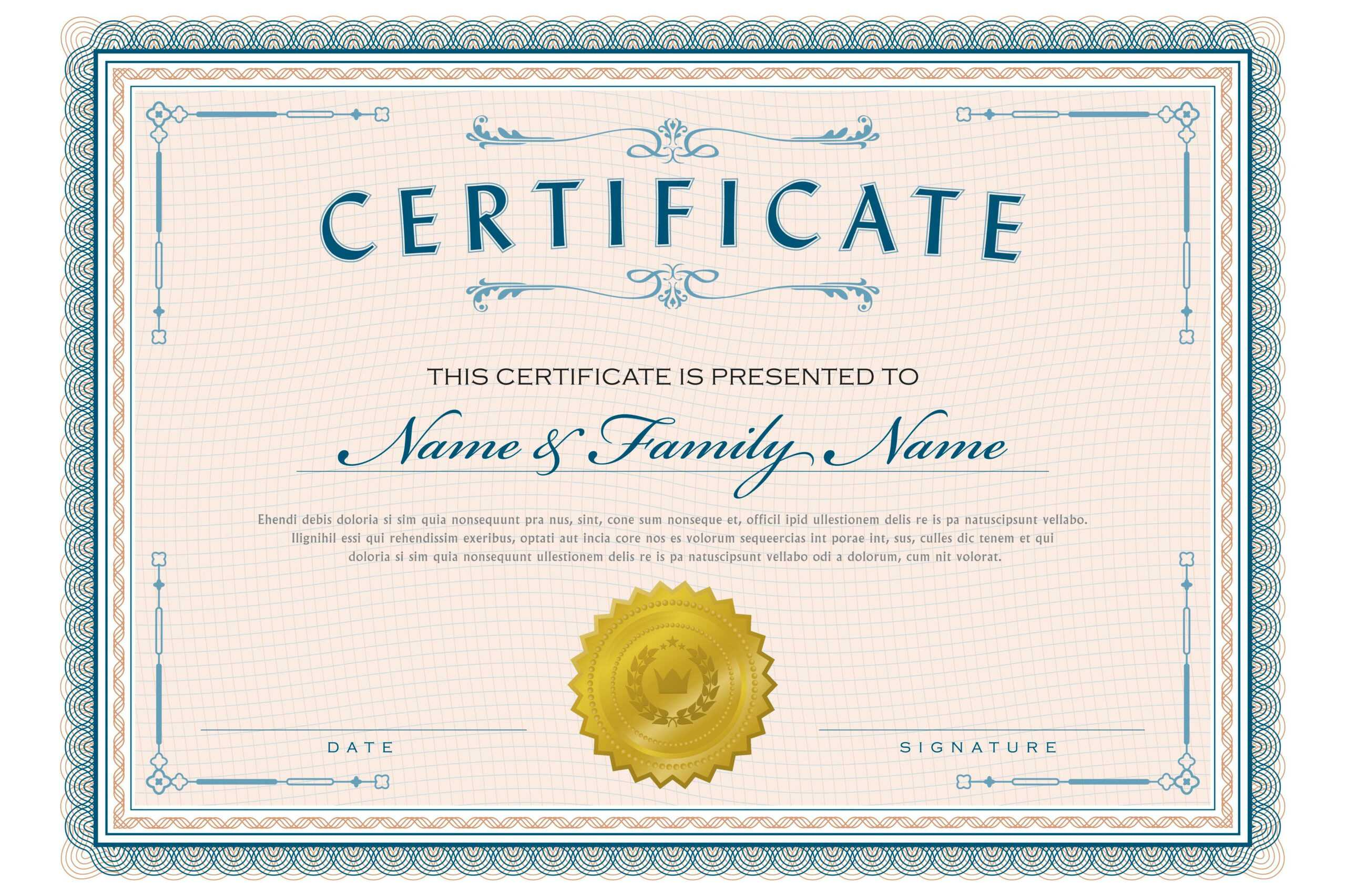 Necessary Parts Of An Award Certificate Throughout Spelling Bee Award Certificate Template