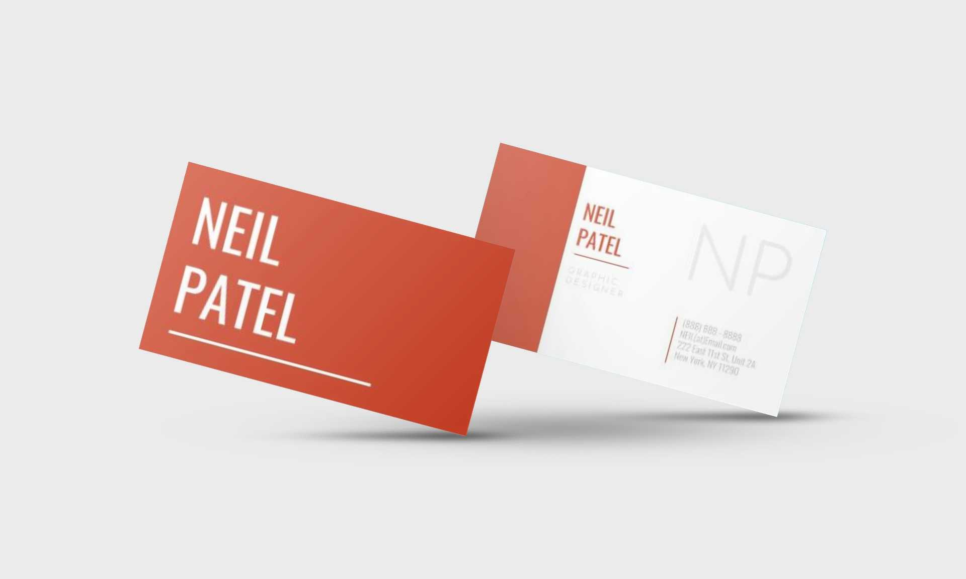 Neil Patel Google Docs Business Card Template - Stand Out Shop Throughout Google Docs Business Card Template