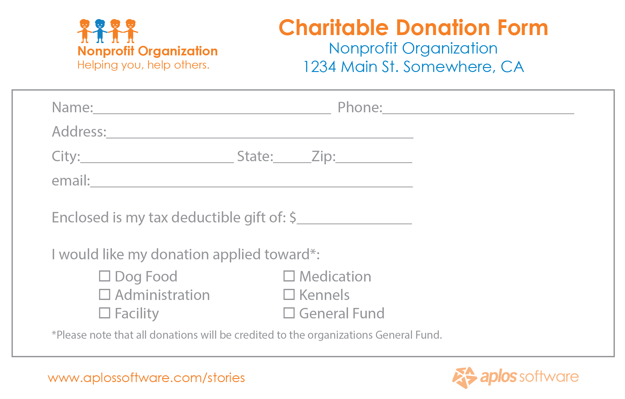 Non Profit Donation Form Template – Mahre.horizonconsulting.co For Donation Card Template Free
