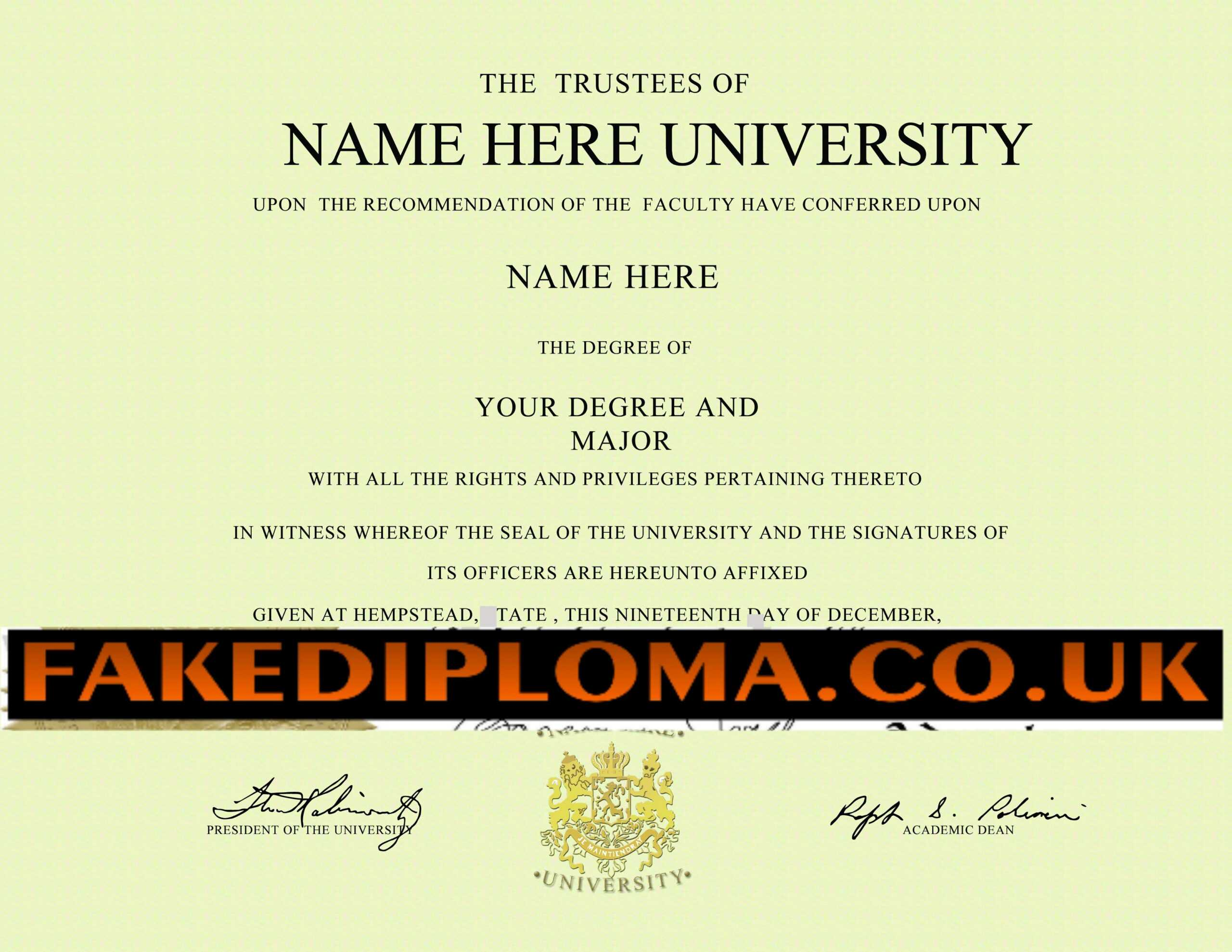 Novelty Degree Certificates Uk – Mahre.horizonconsulting.co With Novelty Birth Certificate Template