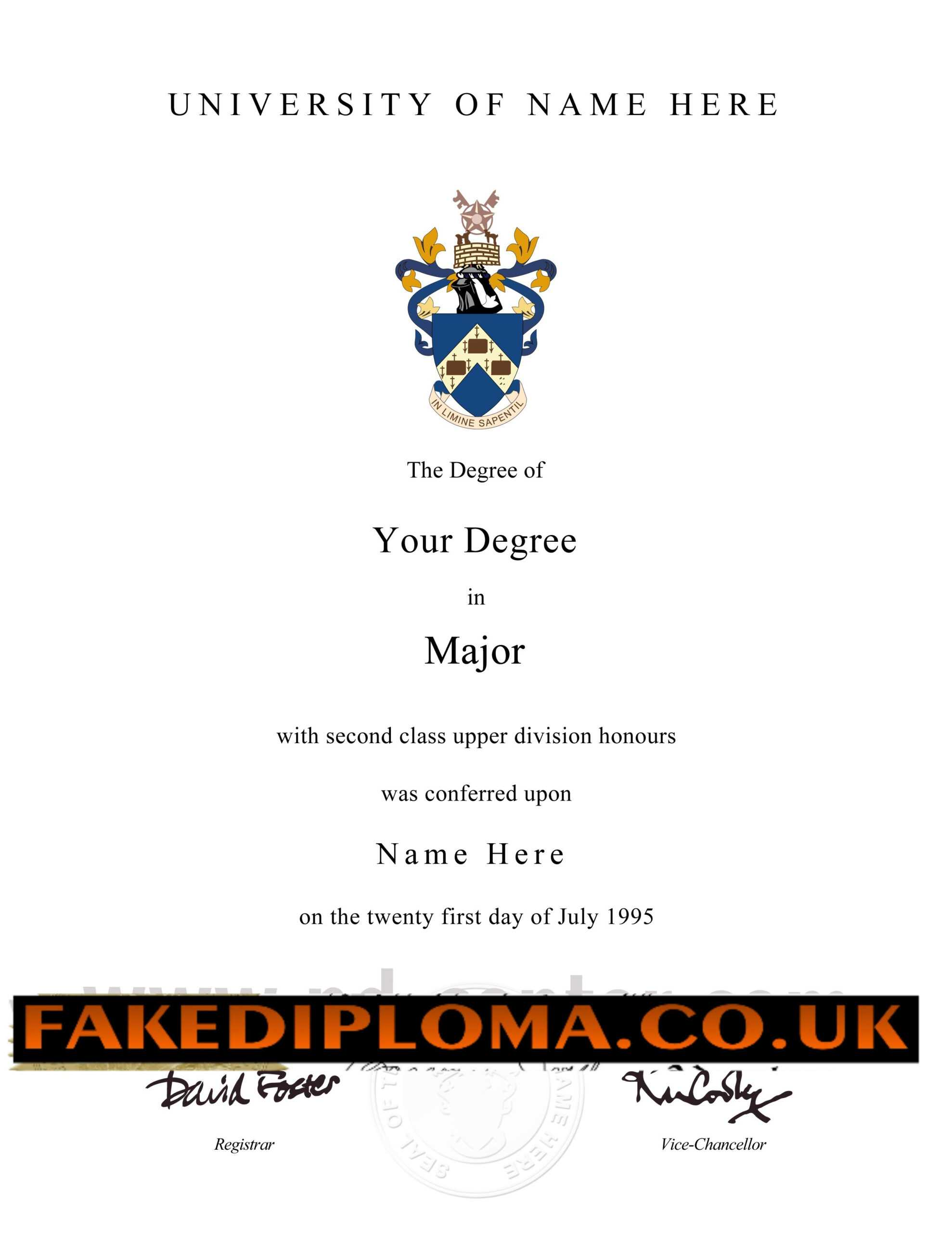Novelty Degree Certificates Uk – Mahre.horizonconsulting.co Within Novelty Birth Certificate Template