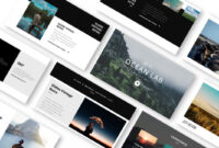 Ocean Lab Photo Album Powerpoint Template – Just Free Slides pertaining to Powerpoint Photo Album Template
