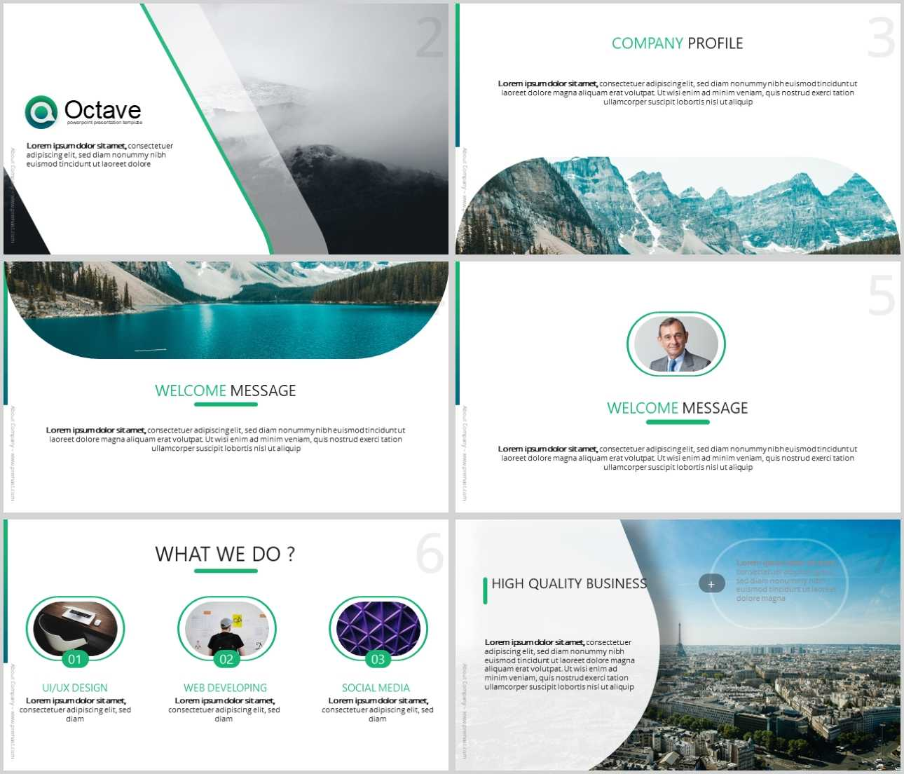 Octave Free Powerpoint Presentation Template - Just Free Slides Inside Tourism Powerpoint Template