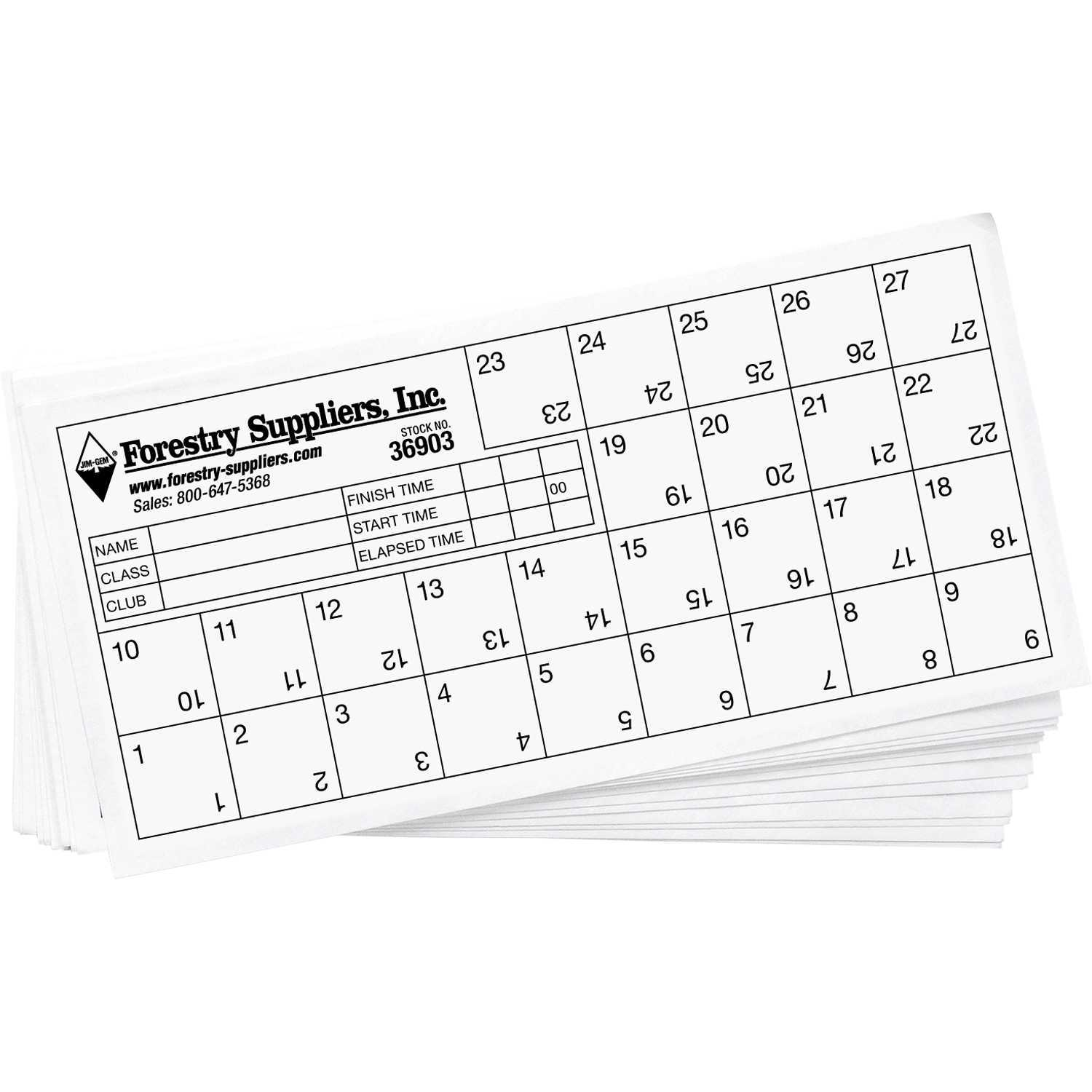 Orienteering Control Cards, Pack Of 25 | Forestry Suppliers Pertaining To Orienteering Control Card Template