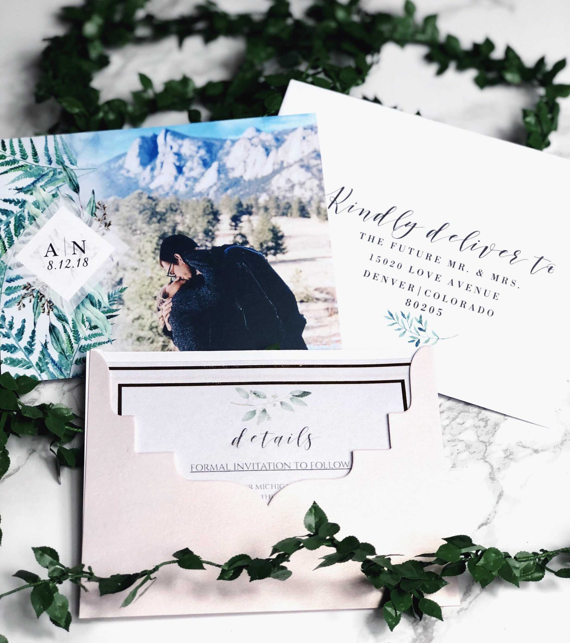 Our Save The Dates! Photo From Vistaprint, Envelope Inside Michaels Place Card Template