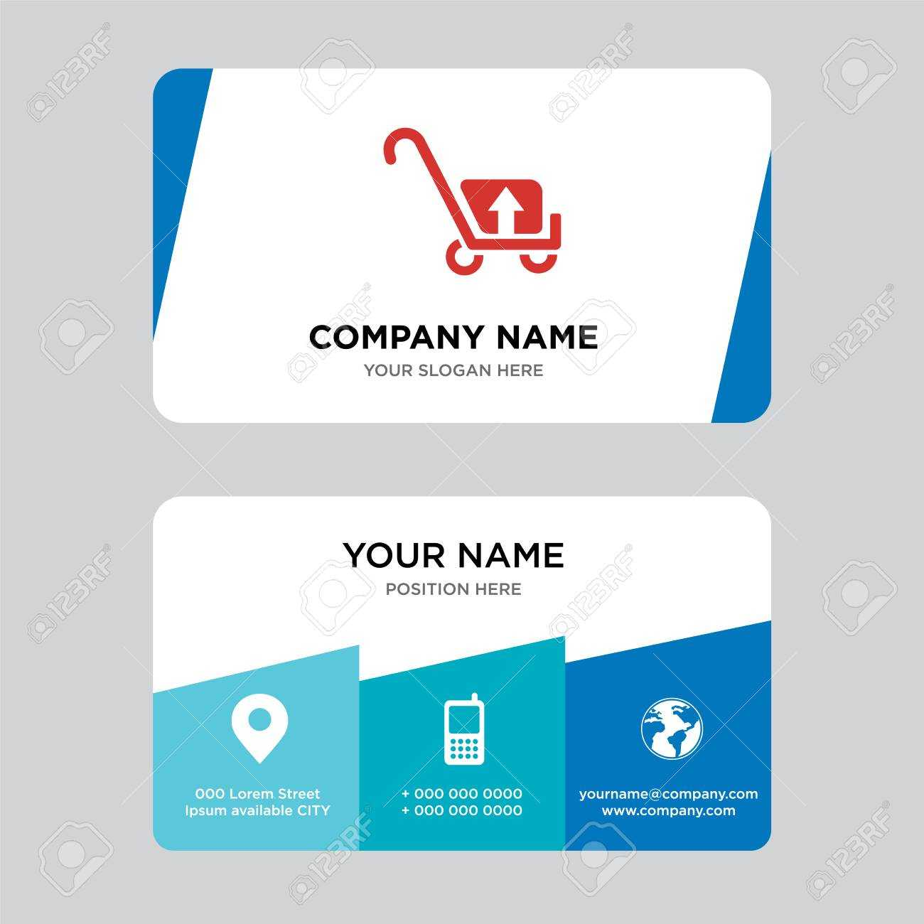 Package Transport For Delivery Business Card Design Template,.. With Transport Business Cards Templates Free