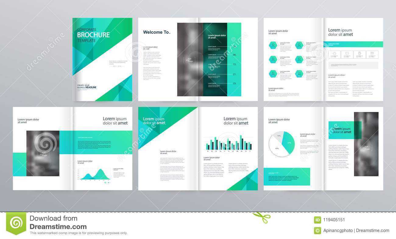 Page Layout For Company Profile, Annual Report, And Brochure Throughout Welcome Brochure Template