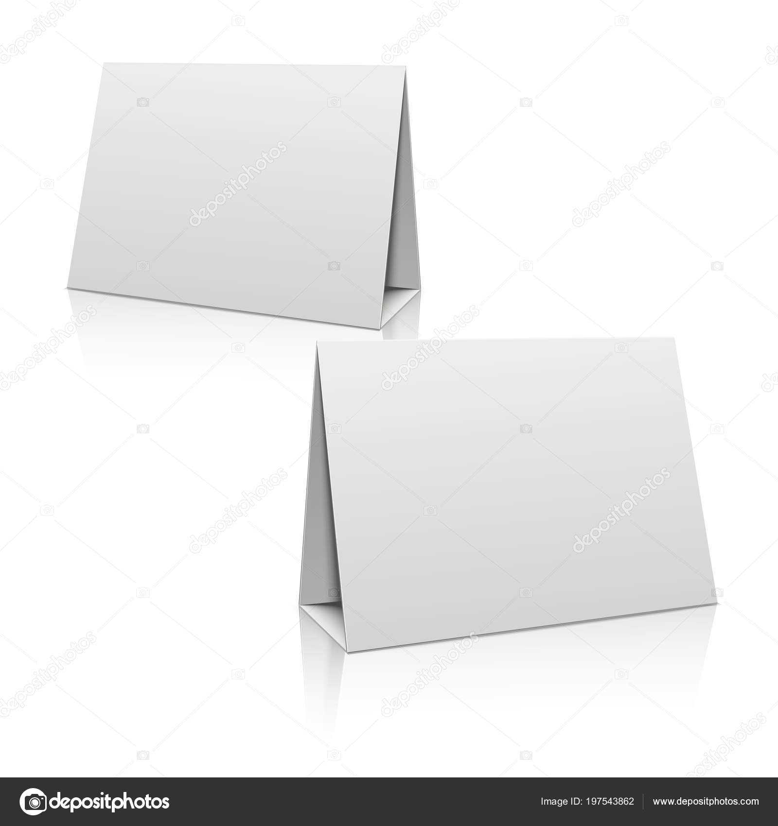 Paper Stand Template | Blank White Paper Stand Table Holder Pertaining To Card Stand Template