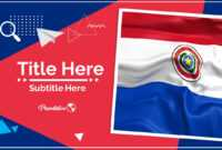 Paraguay Google Slides And Powerpoint Template : Myfreeslides throughout Patriotic Powerpoint Template