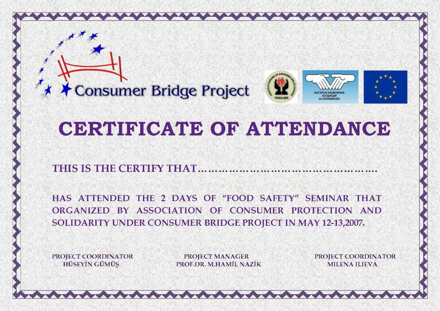 Perfect Attendance Certificate Templates Free Download Throughout Perfect Attendance Certificate Template
