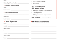 Personal Medication Record – Fill Online, Printable throughout Medication Card Template
